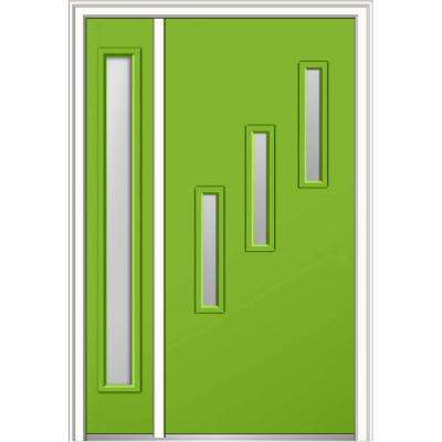 48 in. x 80 in. Davina Low-E Glass Right-Hand 3  sc 1 st  The Home Depot & 48 x 80 - Green - Right-Hand/Inswing - Exterior Doors - Doors ...