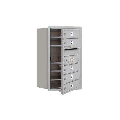 3700 Series 27 in. 7 Door High Unit Aluminum Private Front Loading 4C Horizontal Mailbox with 5 MB1 Doors