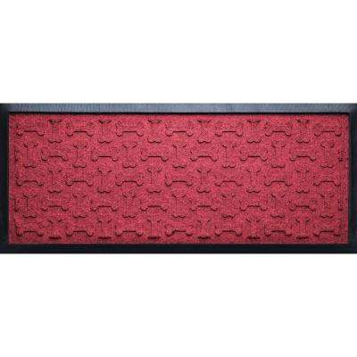 Red Black 15 in. x 36 in. x 1/2 in. Dog Treats Boot Tray