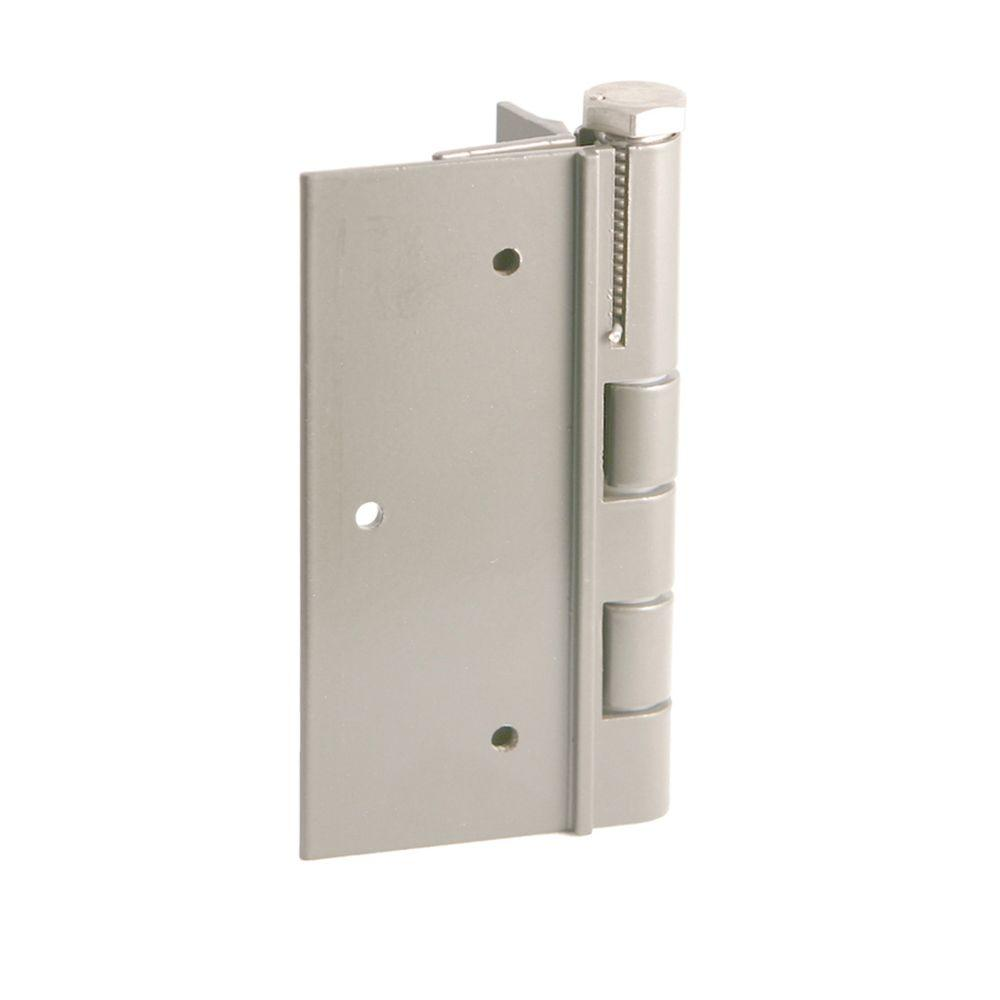 5 in. White Aluminum Fence Self-Closing Gate Hinge