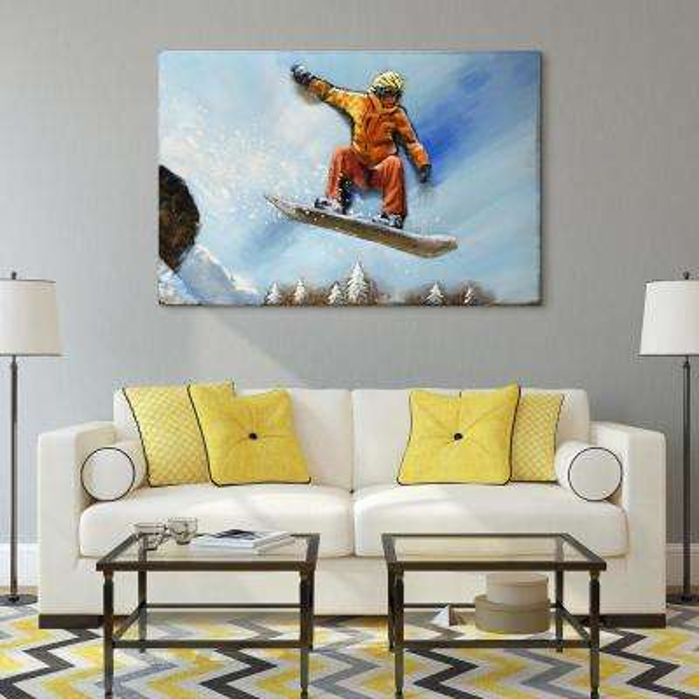 """Skateboarding"" Mixed Media Iron Hand Painted Dimensional Wall Dcor"