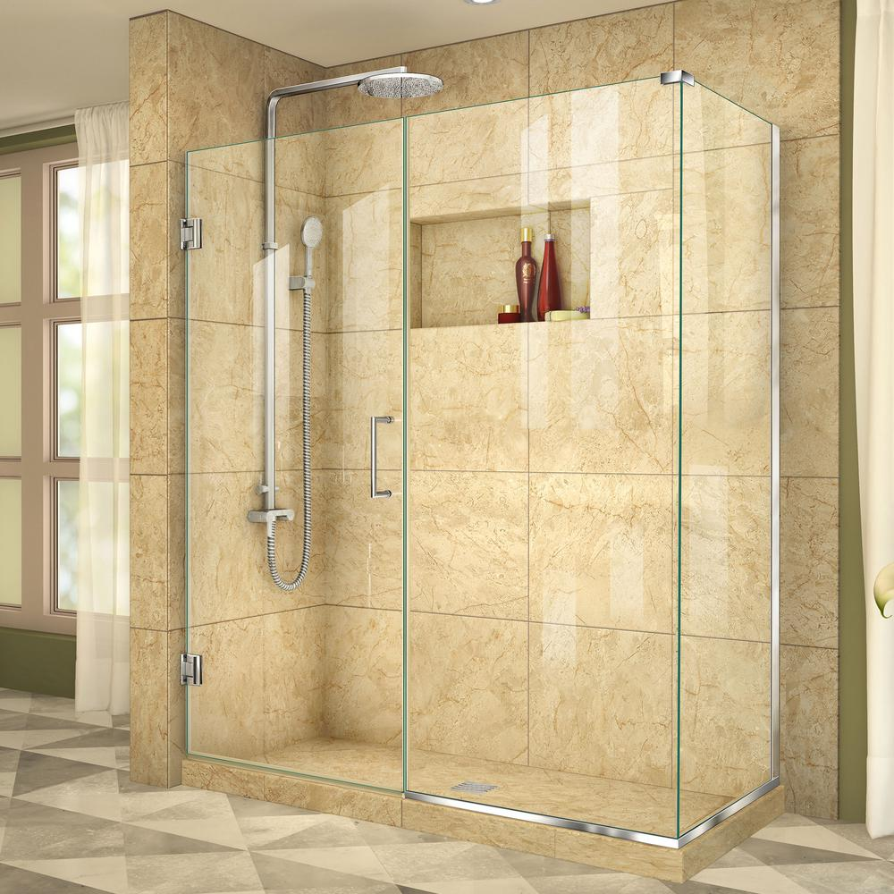 shop dreamline acrylic kit wall white round corner x piece shower prime floor in actual pd