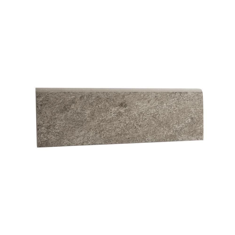 Alpe Silver 3 in. x 12 in. Porcelain Bullnose Tile (15 sq. ft. / case)