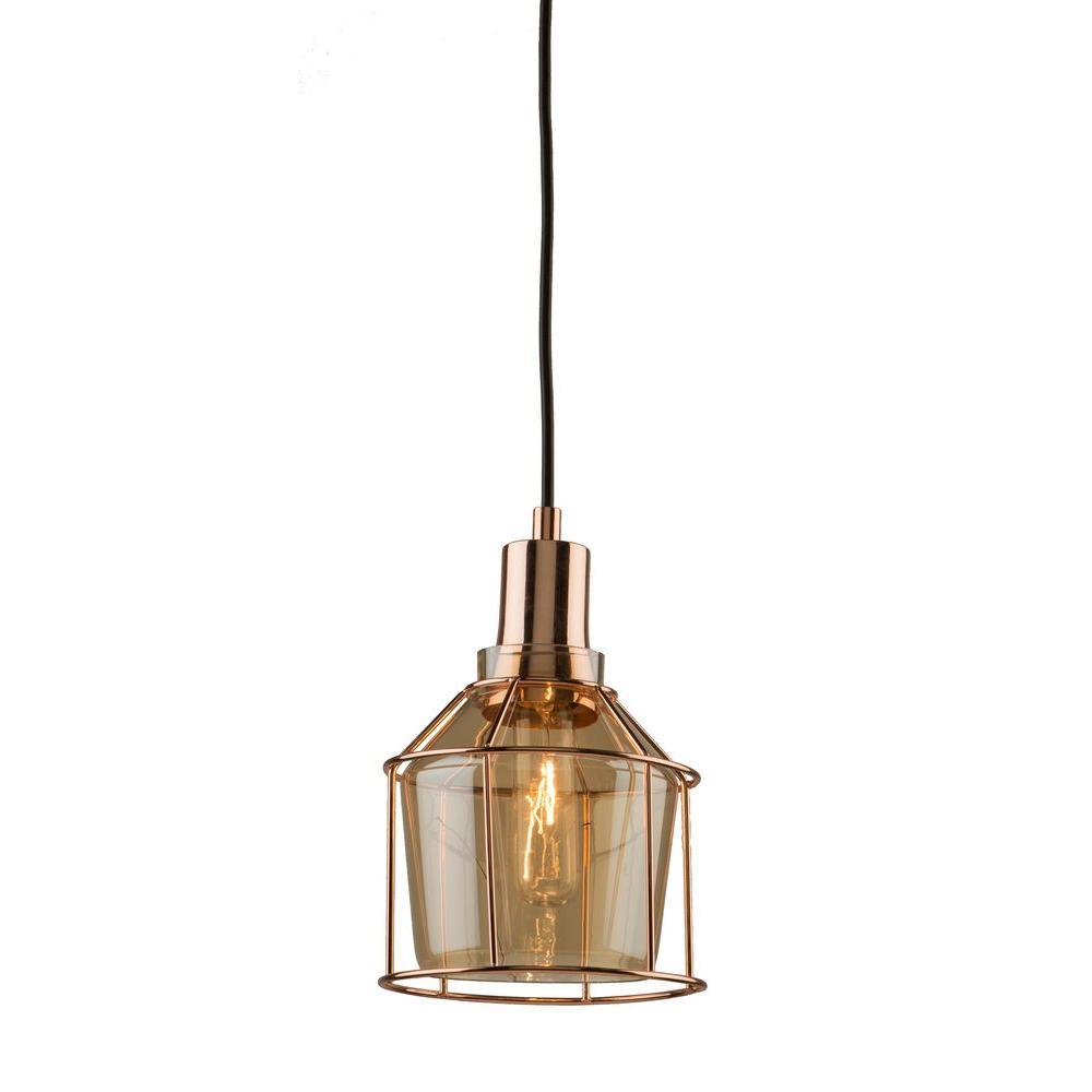 1-Light Rose Gold Pendant  sc 1 st  Home Depot & Filament Design - Pendant Lights - Lighting - The Home Depot azcodes.com