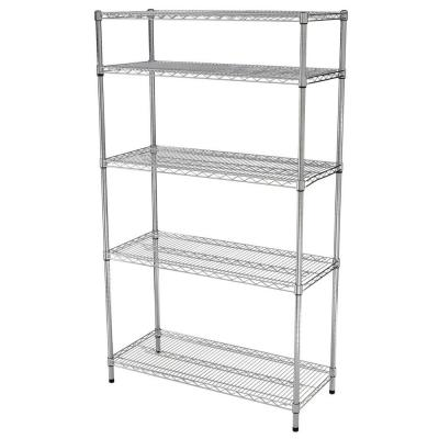 Chrome 5-Tier Heavy Duty Steel Wire Shelving Unit (42 in. W x 72 in. H x 18 in. D)