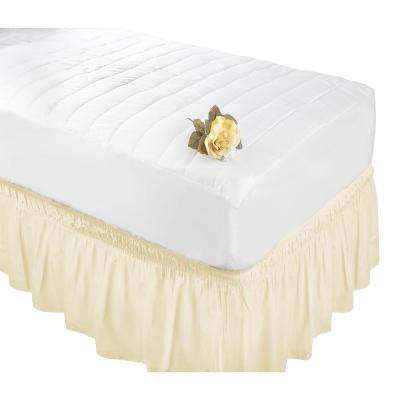 Beige Queen/King Bed Ruffle