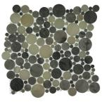 Orbit Foggy Circles 12 in. x 12 in. x 8 mm Mosaic Floor and Wall Tile