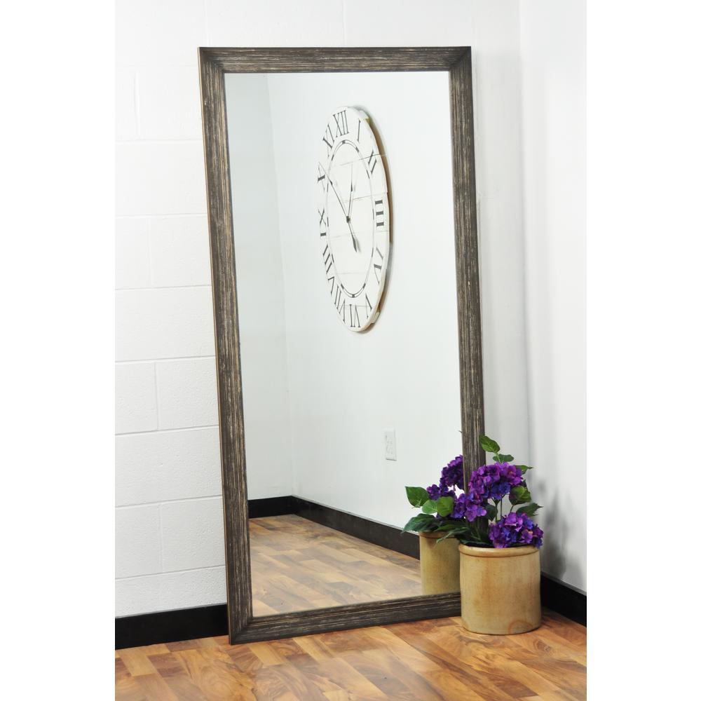 Simply Distressed Chocolate Floor Mirror
