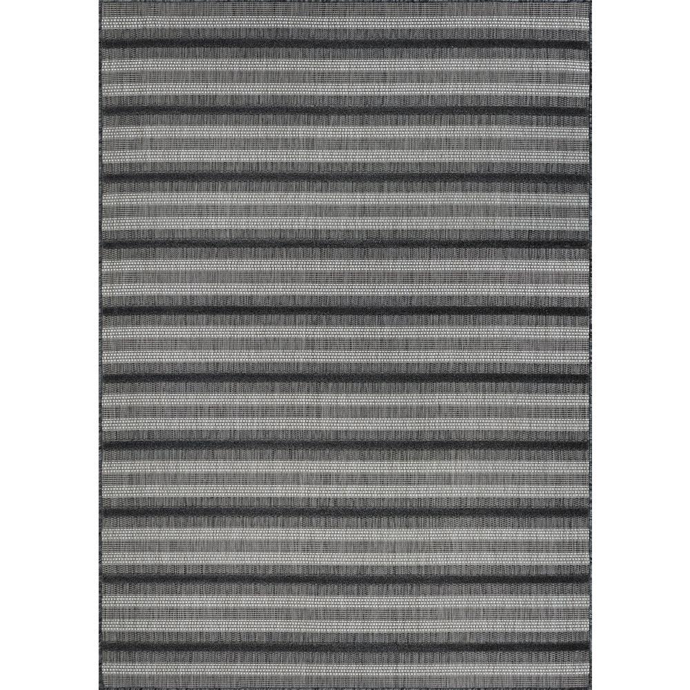 Couristan Veranda Havasu Stripe Grey Coal 5 Ft X 8 Ft Indoor Outdoor Area Rug 65520544051076t The Home Depot