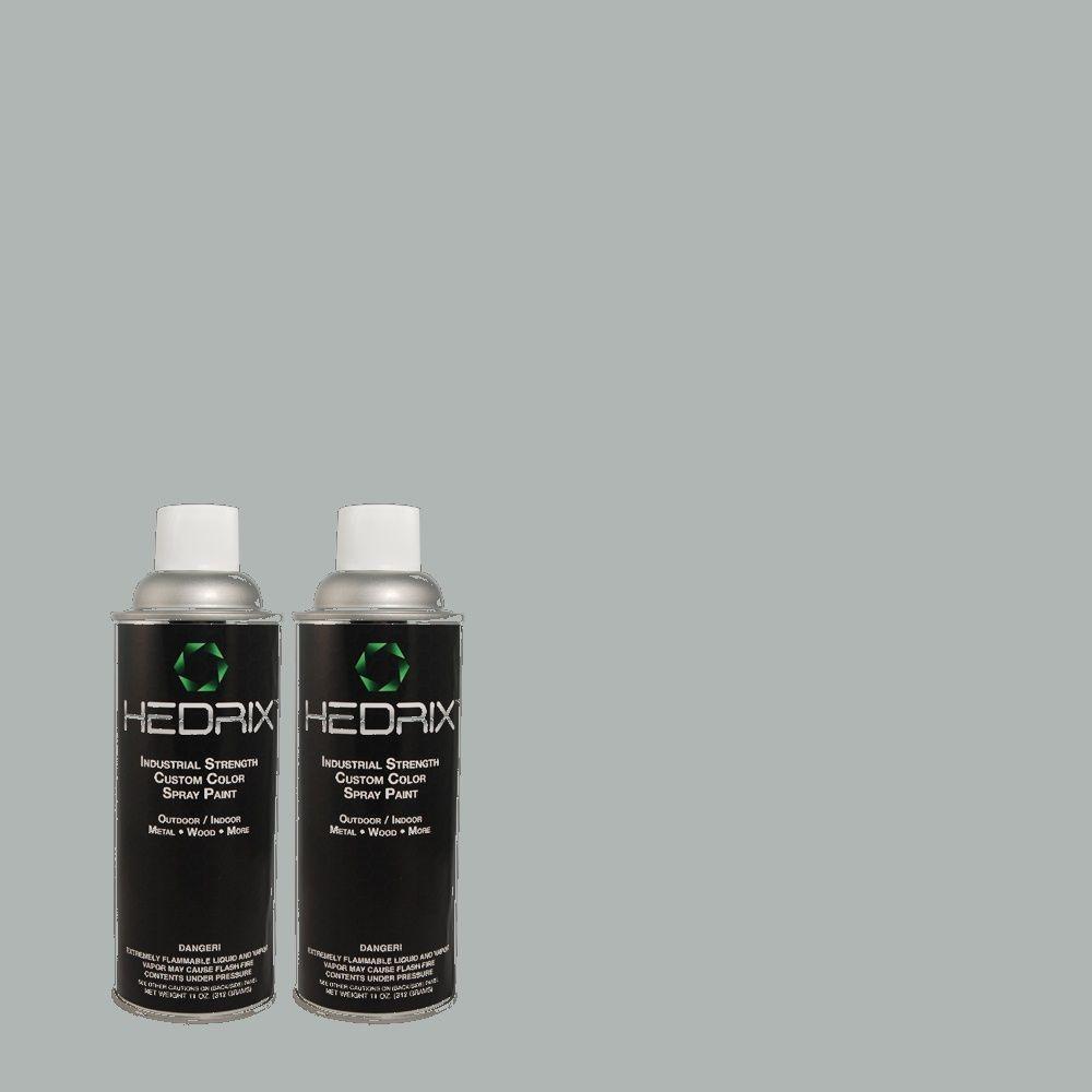 Hedrix 11 oz. Match of 540E-3 Blue Fox Gloss Custom Spray Paint (2-Pack)