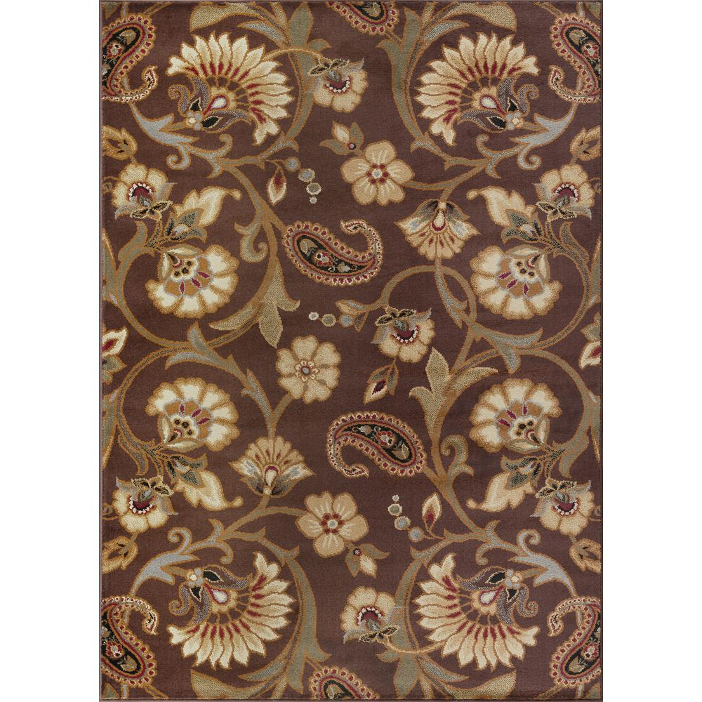 Tayse Rugs Elegance Brown 7 Ft 6 In X 9 10