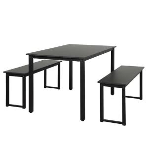 Terrific Harper Bright Designs 3 Piece Black Dining Table Set With Gmtry Best Dining Table And Chair Ideas Images Gmtryco