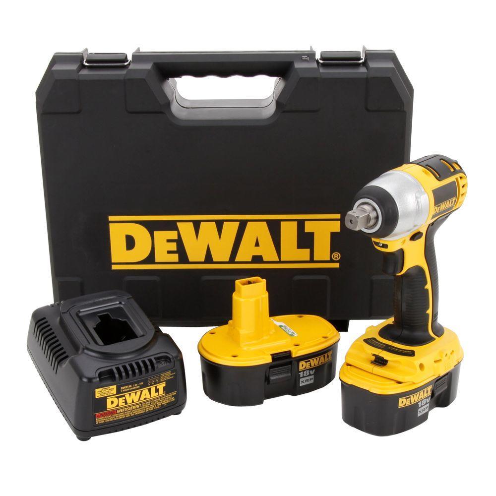 DEWALT 18-Volt XRP NiCd Cordless 1/2 in. Hammerdrill/Drill/Driver ...