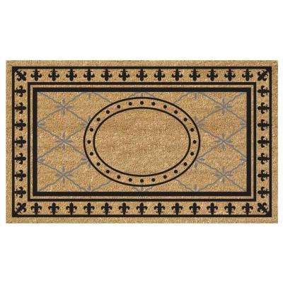 Bungalow 18 in. x 30 in. SuperScraper Vinyl/Coir Plain Door Mat