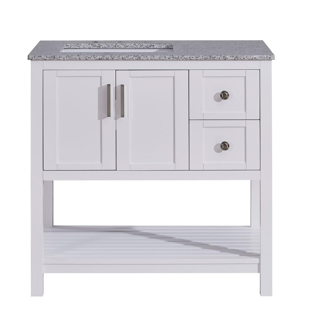 silkroad exclusive 36 in w x 22 in d bath vanity in white with rh homedepot com