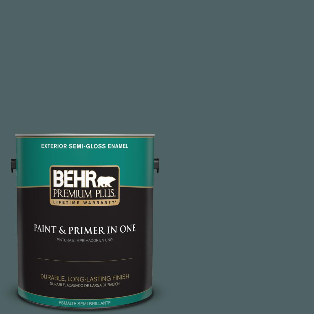 1 gal. #PPU12-20 Underwater Color Semi-Gloss Enamel Exterior Paint