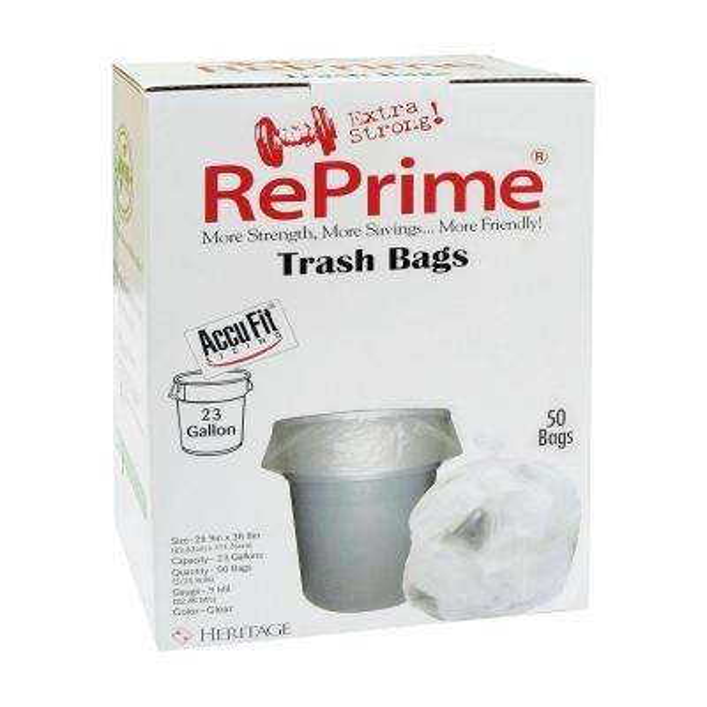 23 Gal. Accufit RePrime Trash Bags (50-Bags)