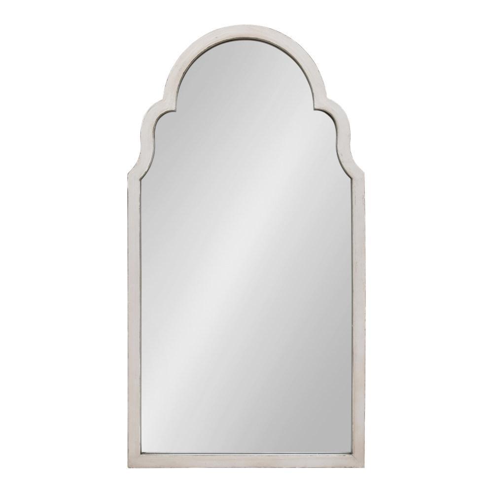 Damara Arch White Wall Mirror