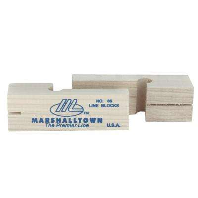 3-3/4 in. Wood Line Blocks (Pair)