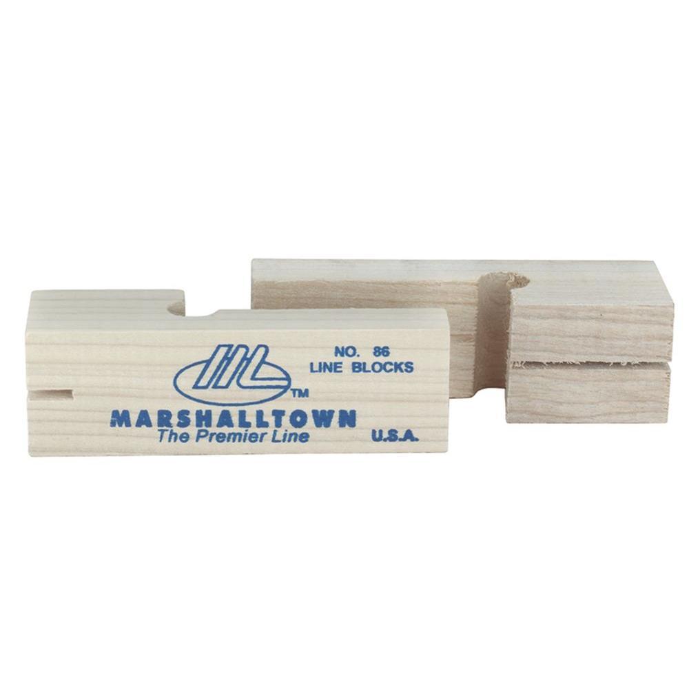 Marshalltown 3-3/4 in. Wood Line Blocks (Pair)-86-HD - The Home Depot