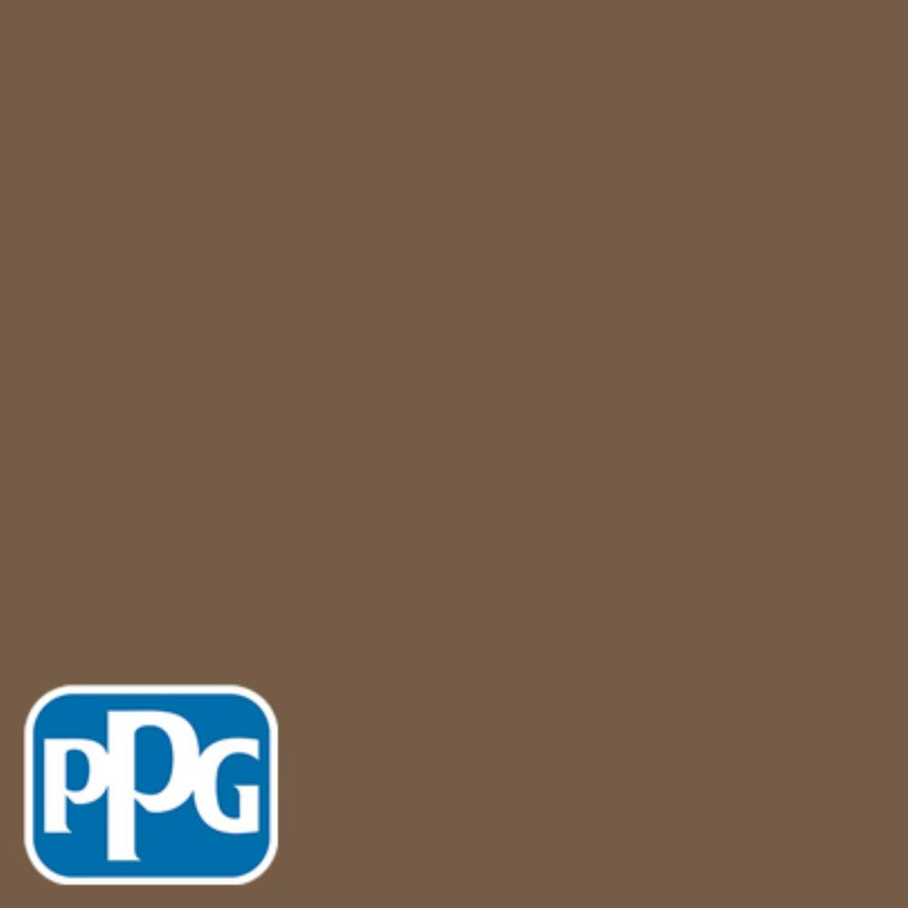 8 oz. #HDPPGO52U New Bedford Brown Flat Interior/Exterior Paint Sample