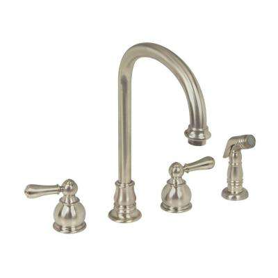Hampton 2-Handle Standard Kitchen Faucet in Nickel