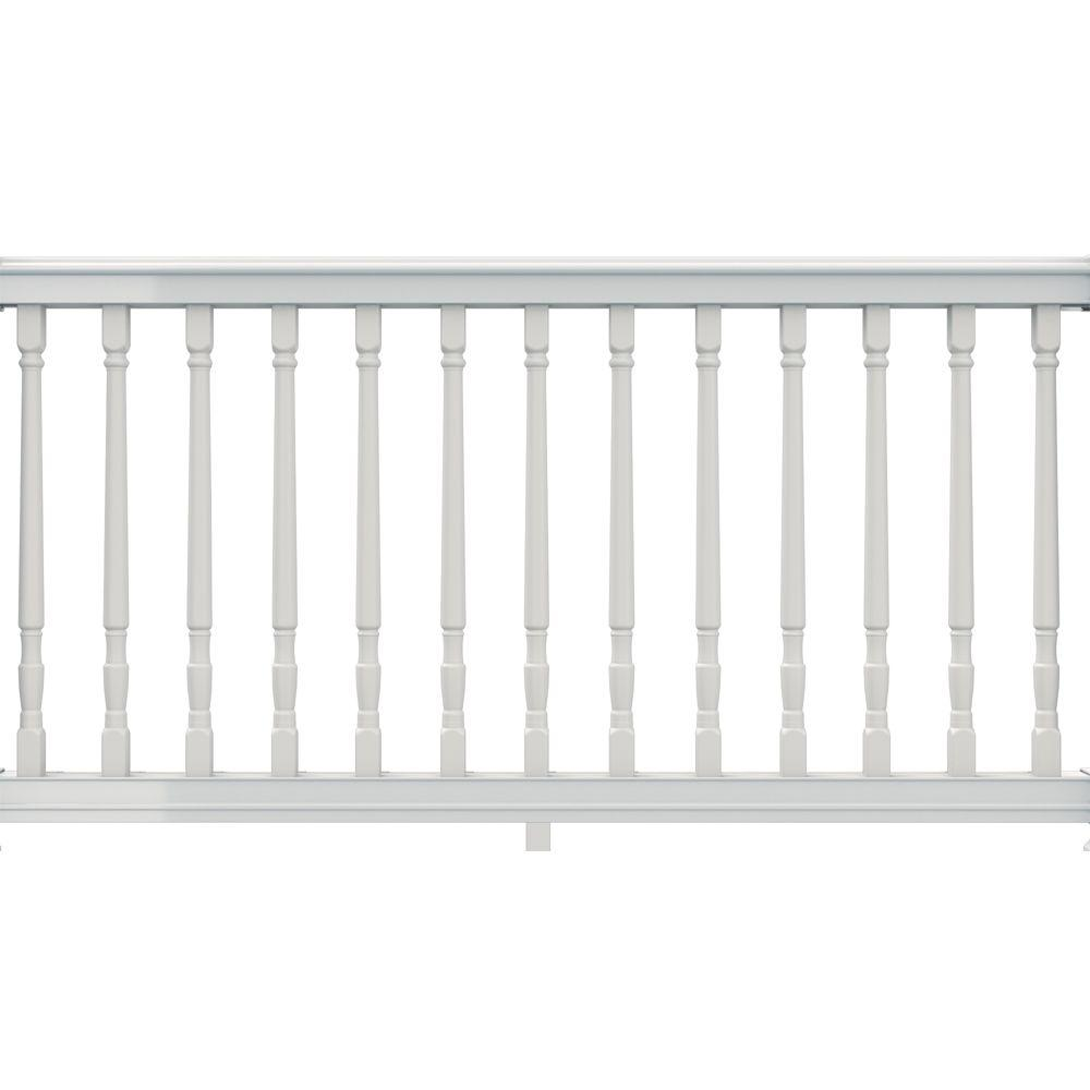 null Premier 6 ft. x 36 in. White Vinyl Rail with Colonial Spindles