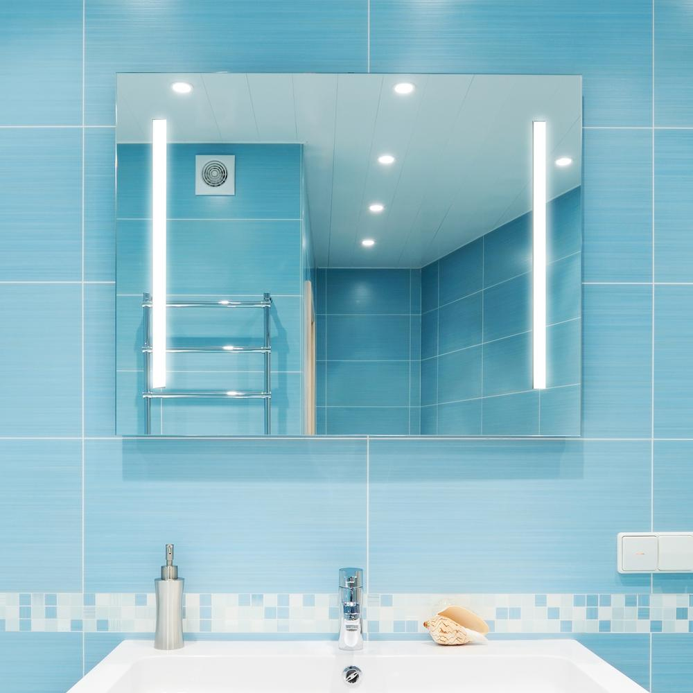 Dyconn Catella 48 In X 36 In Led Wall Mounted Backlit Vanity Bathroom Led Mirror With Touch On