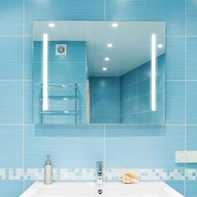 Catella 48 in. x 36 in. LED Wall Mounted Backlit Vanity Bathroom LED Mirror With Touch On/Off Dimmer
