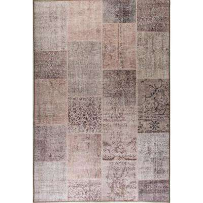 Aura Beige/Tan 8 ft. x 11 ft. Indoor Area Rug