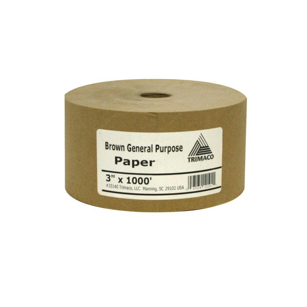 TRIMACO Easy Mask 3 in. X 1000 ft. Brown General Purpose Masking Paper