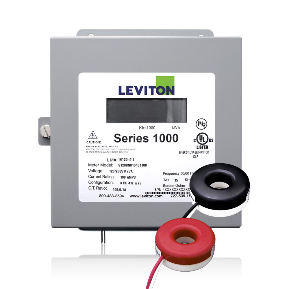 Leviton Series 1000 Single Phase Indoor Meter Kit, 120/240-Volt 100 ...