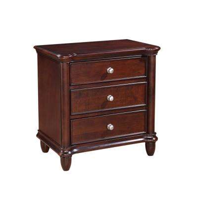 Gavin 3-Drawer Cherry Nightstand