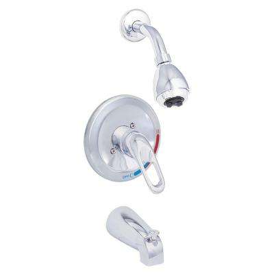 Prestige Collection Single-Handle 1-Spray Tub and Shower Faucet in Chrome (Valve Included)