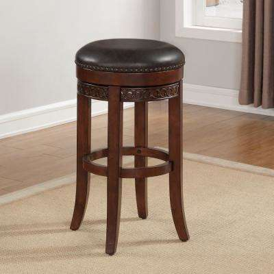 Conrad 34 in. Cherry Backless Swivel Tall Bar Stool