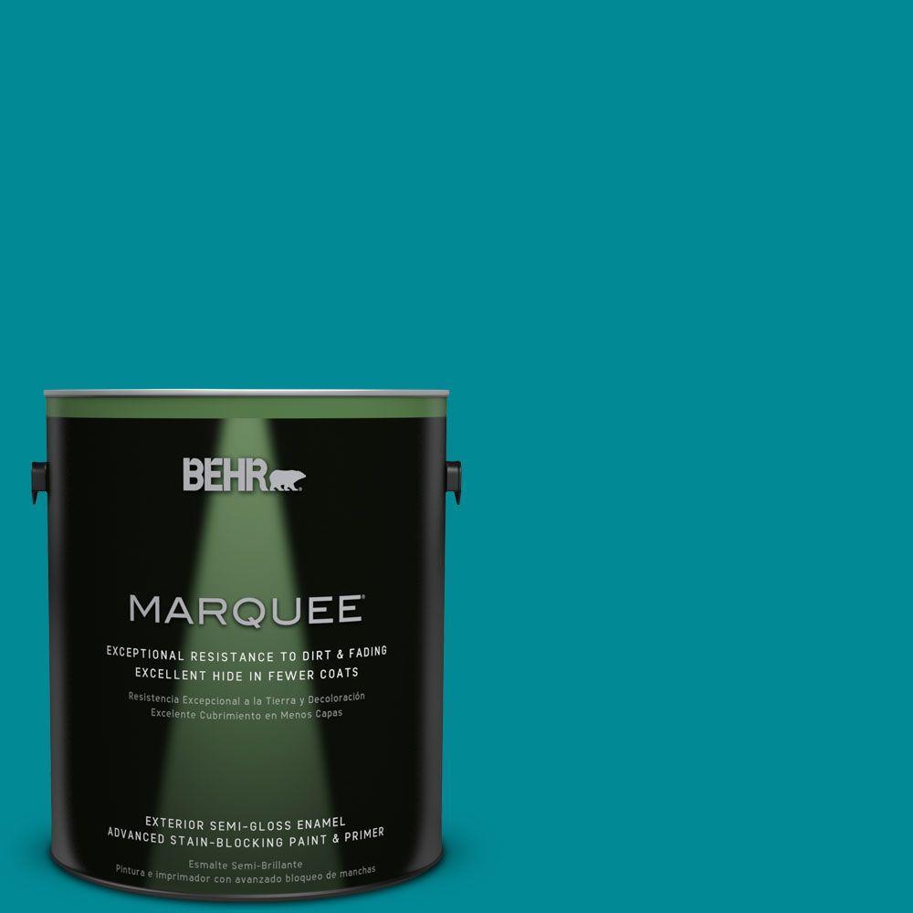 1 gal. #HDC-SM16-06 Blue Slushie Semi-Gloss Enamel Exterior Paint