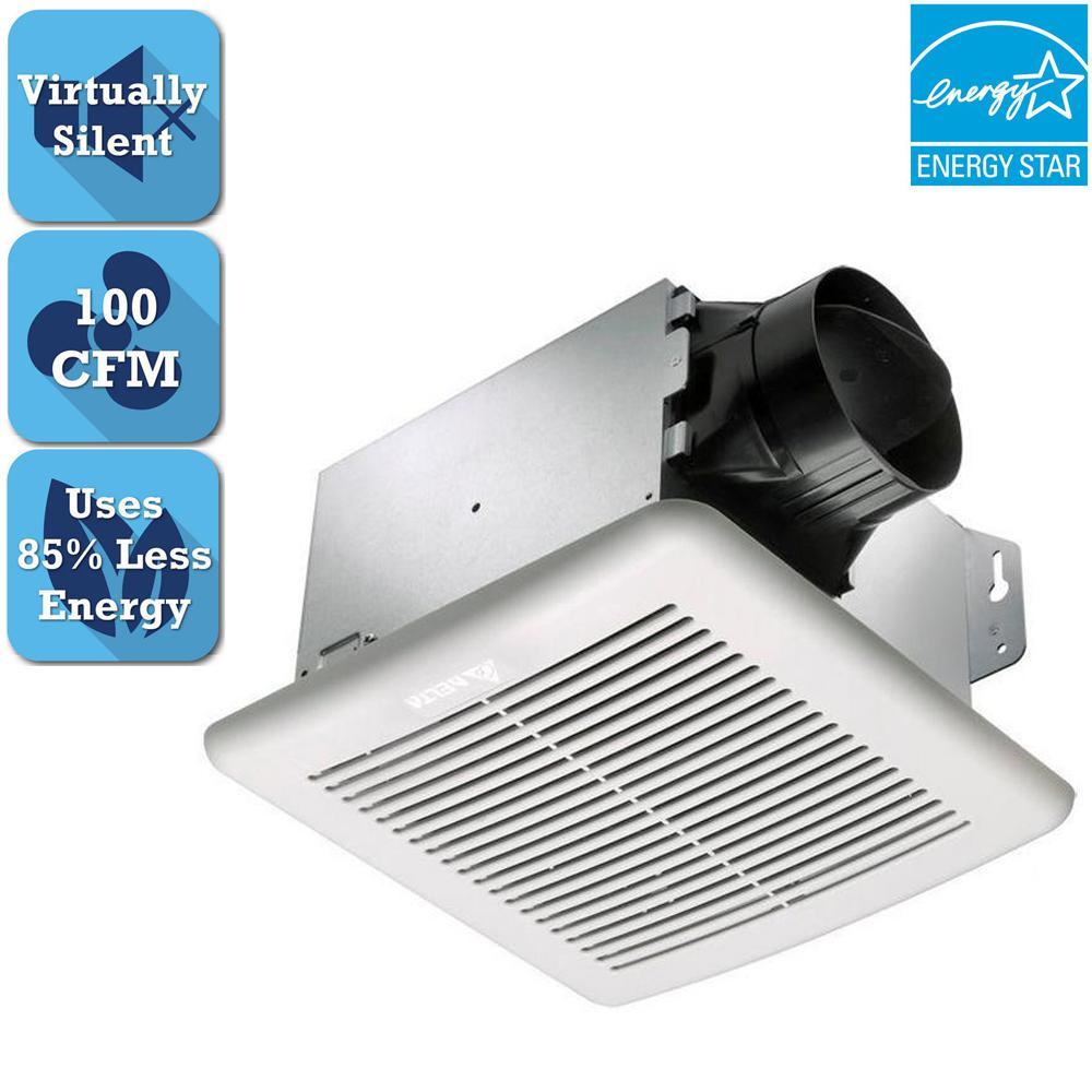 Delta Breez Greenbuilder Series 100 Cfm Ceiling Bathroom Exhaust Fan