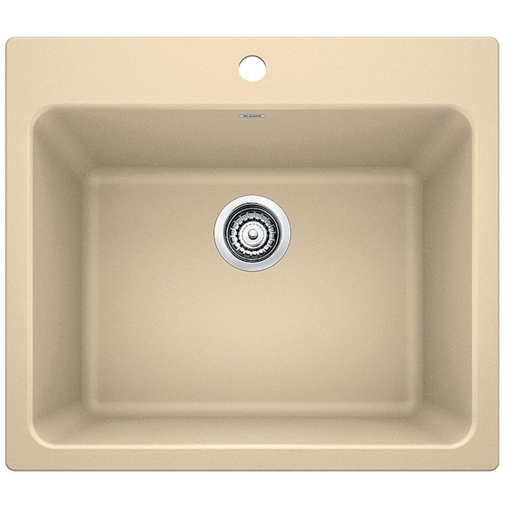 Liven 25 in. x 22 in. x 12 in. Granite Undermount Laundry Sink in Biscotti