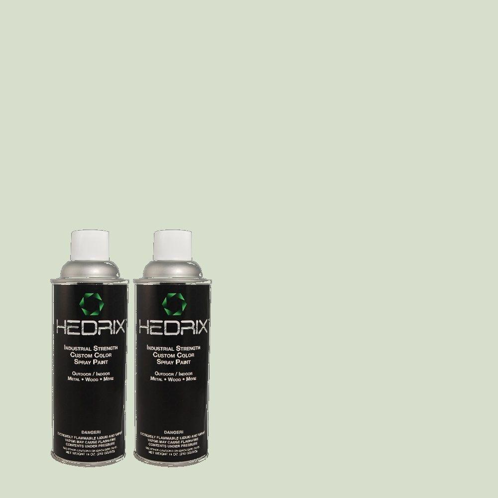 Hedrix 11 oz. Match of C60-22 Light Moss Flat Custom Spray Paint (2-Pack)