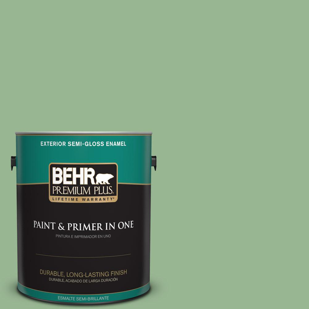 1-gal. #M400-4 Brookview Semi-Gloss Enamel Exterior Paint