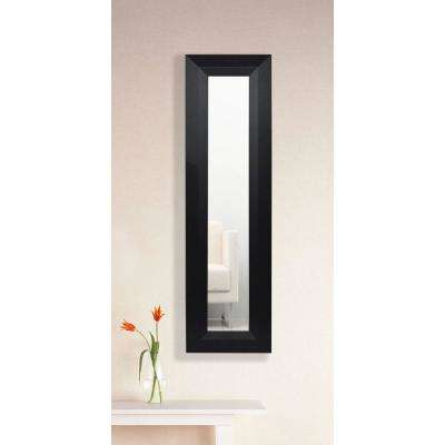 15.5 in. x 29.5 in. Solid Black Angle Vanity Mirror Single Panel
