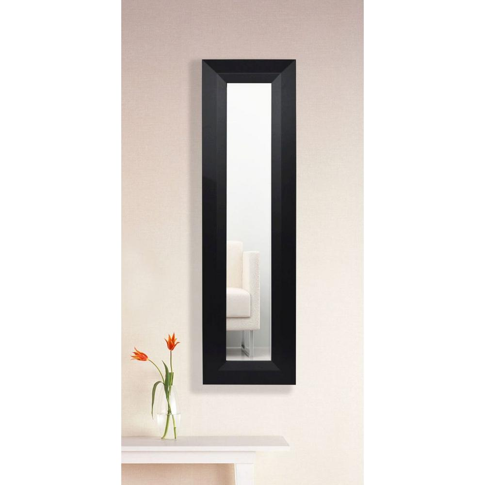 9 5 in x 21 5 in solid black angle vanity mirror single for 4 x 5 wall mirror