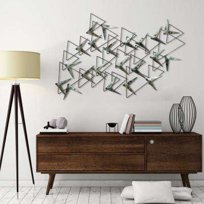 """Arrows"" Hand painted Etched metal Wall Sculpture"