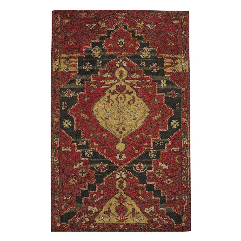 Home Decorators Collection Tollan Red 9 ft. 6 in. x 13 ft. 6 in. Area Rug
