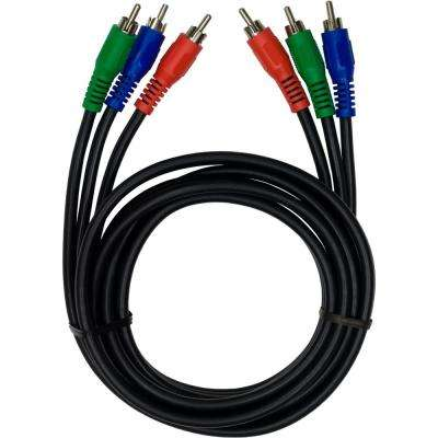 6 ft. Component Video Cable Red Blue Green Connectors, Video Only for TV, HDTV