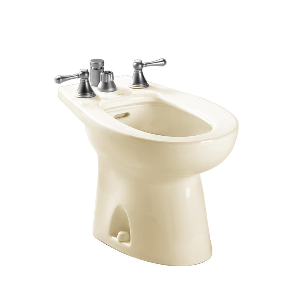 Toto piedmont elongated bidet for vertical spray in bone bt500b 03 the home depot - Japanese toilet bidet combination ...