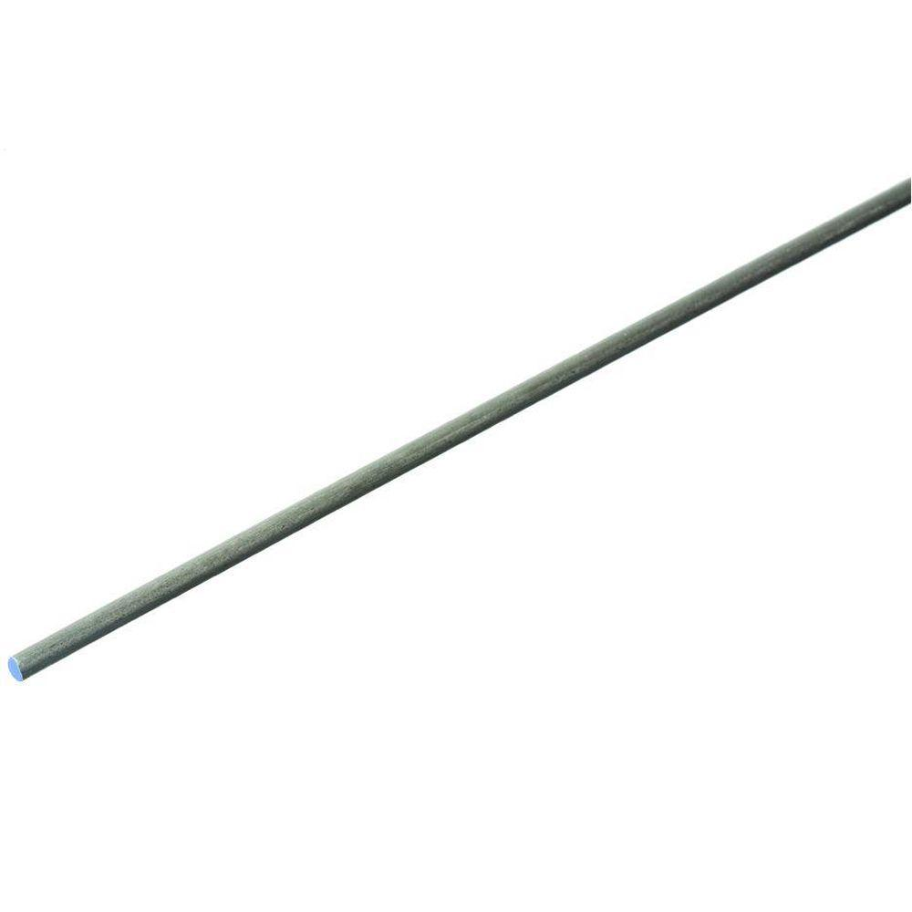 Everbilt 1/8 in. x 48 in. Plain Steel Cold Rolled Round Rod