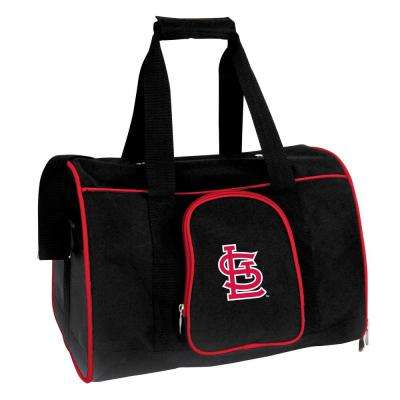 MLB St Louis Cardinals Pet Carrier Premium 16 in. Bag in Red