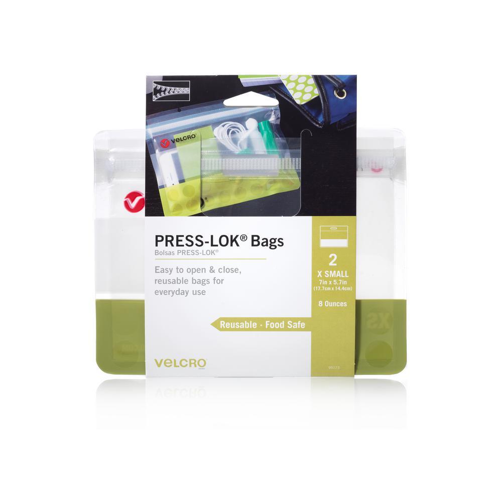 VELCRO Brand PRESS-LOK X-Small Reusable Bags (2-Count)