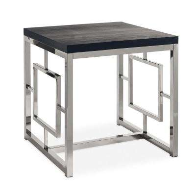 Harper Black/Chrome End Table